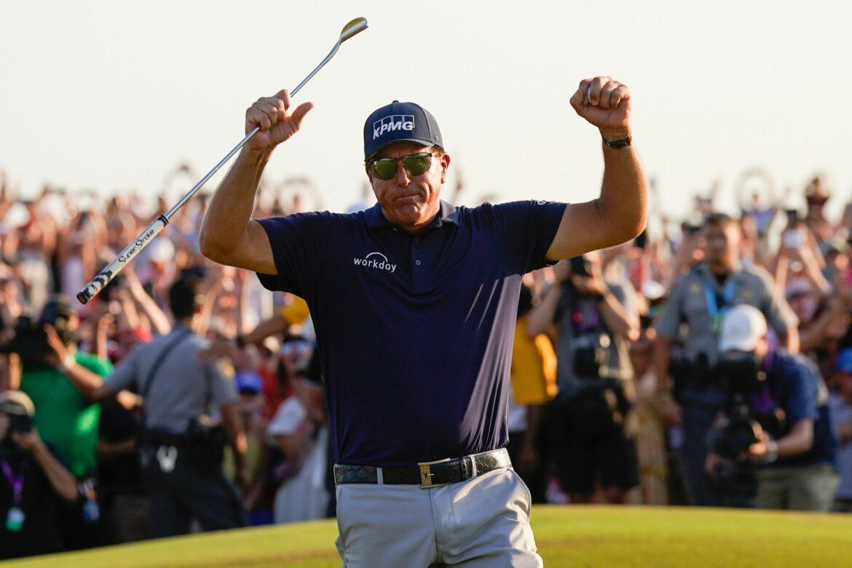 Major-Triumph mit 50: Mickelson schreibt Golf-Geschichte